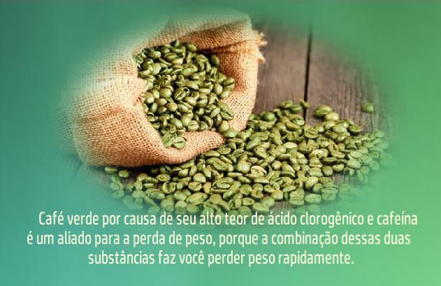 Peso perder cafe ajuda verde